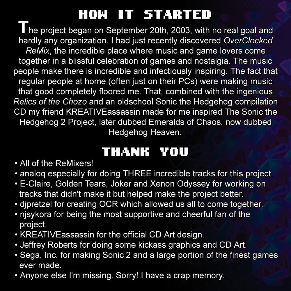 Hedgehog Heaven: Sonic the Hedgehog 2 Remix Album
